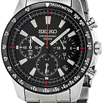 Seiko 5 Sports SSB031 Seiko Sport Cronografo Quarzo Acciaio Inox Nero 40,5 nowość