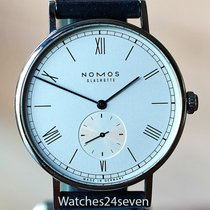 NOMOS Ludwig Automatik Steel 40mm Silver Roman numerals United States of America, Missouri, Chesterfield