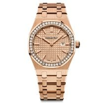 Audemars Piguet Royal Oak Lady Quartz Rose Gold Rose Dial...