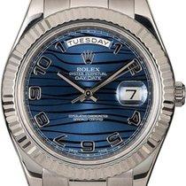 Rolex Day-Date II Белое золото 41mm Синий Россия, Москва