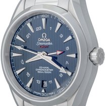 Omega Steel Automatic Blue No numerals 43mm pre-owned Seamaster Aqua Terra