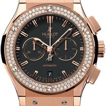Hublot Rose gold Automatic Black 42mm new Classic Fusion Chronograph