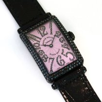 "Franck Muller Long Island ""black Magic"" 18k White Gold W/..."