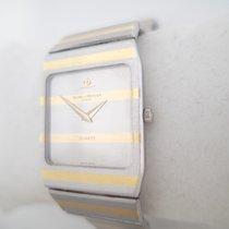 Baume & Mercier flat rectangular vintage model gold and steel ...