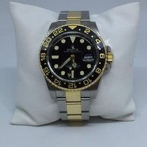 Rolex GMT-Master II 116713 18k Yellow Gold and Steel Black Dial