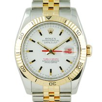 Rolex Datejust Thunder-Bird Turn-O-Graph TT/YG White Dial -...