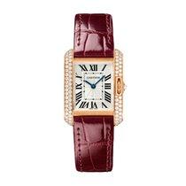 Cartier Tank Anglaise 18K Rose Gold & Diamonds Bordeaux Strap