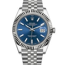 Rolex Datejust Rolex 126334  Datejust 41 Stainless Steel Blue STICK DIAL 2020 new