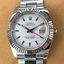 Rolex Datejust Turn-O-Graph Сталь 37mm Белый Без цифр