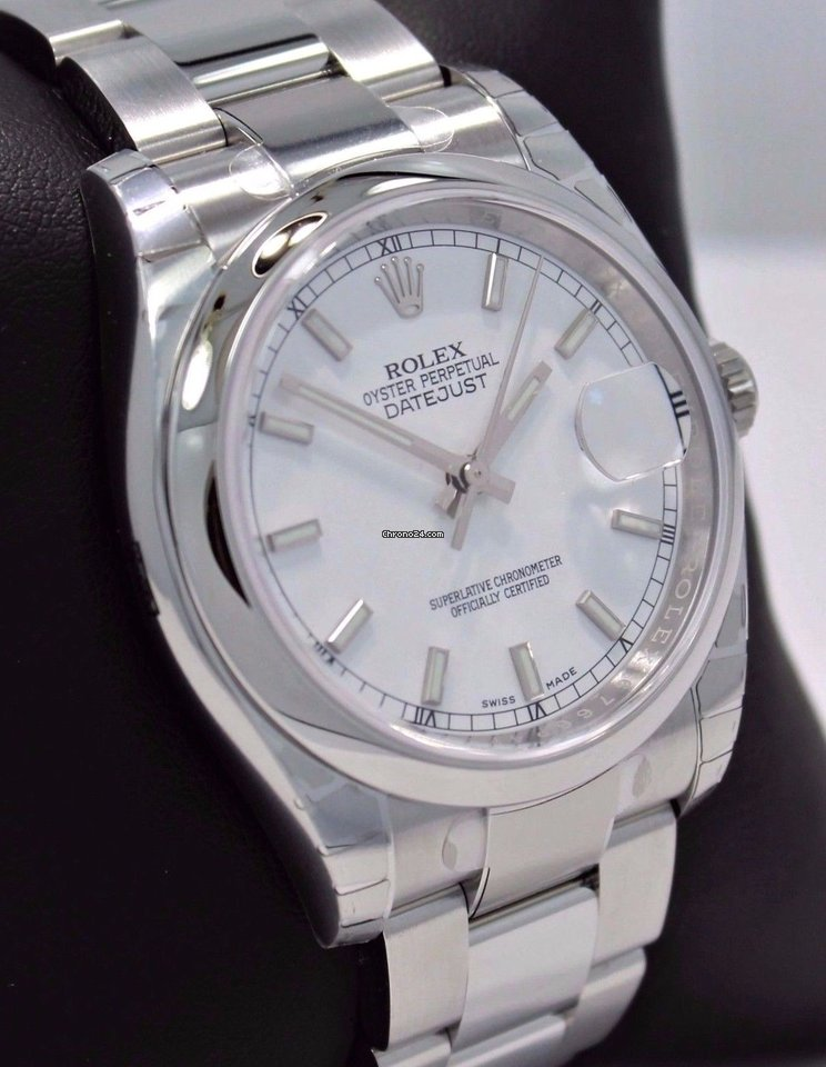 Rolex Datejust 116200 36mm Oyster White Stick Dial Date ...Rolex Datejust 36mm On Wrist