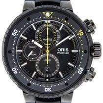 Oris ProDiver Chronograph Titane 51mm Noir Sans chiffres