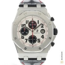 Audemars Piguet Royal Oak Offshore Chronograph Acero 42mm Plata Árabes
