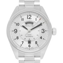 Hamilton Khaki Field Day Date Steel 42mm Silver Arabic numerals United States of America, New Jersey, Cresskill