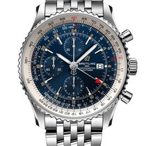 Breitling Navitimer World Acero 46mm Azul