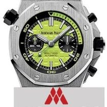 Audemars Piguet Royal Oak Offshore Diver Chronograph Steel 42mm Green No numerals