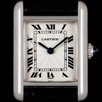 Cartier Tank (submodel) Platinum 20mm Silver Roman numerals