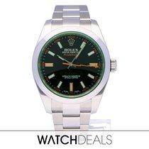 Rolex Milgauss Steel 40mm Black No numerals