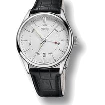 Oris Artelier Pointer Day Date Steel 40mm Silver No numerals