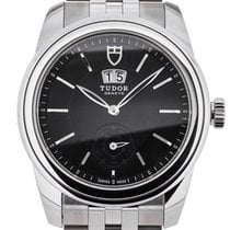 Tudor Glamour Double Date Steel 42mm Black