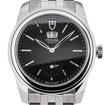 Tudor Steel Automatic Black 42mm new Glamour Double Date