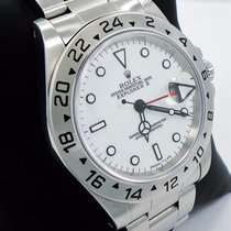Rolex Explorer II 16570 Gmt Stainless Steel Date White Dial...