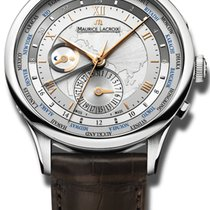 Maurice Lacroix Masterpiece Worldtimer Staal 42mm