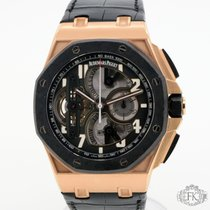 Audemars Piguet Royal Oak Offshore Tourbillon Chronograph Oro rosado 44mm Negro Árabes