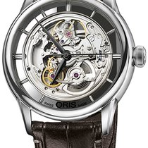 Oris Artelier Translucent Skeleton 01 734 7684 4051-07 5 21 70FC new