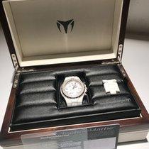 Technomarine White Moon Sun Diamond Chronograph Ceramic Watch