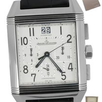 Jaeger-LeCoultre Reverso Squadra Chronograph GMT Staal 35mm Wit Arabisch
