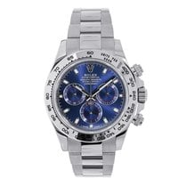 Rolex Daytona 18K White Gold Blue Dial Watch 116509