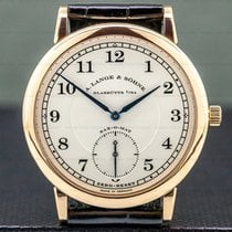 A. Lange & Söhne Rose gold Automatic Silver Arabic numerals 37mm pre-owned 1815