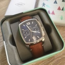 Fossil pre-owned Quartz 50mm Blue Mineral Glass 5 ATM