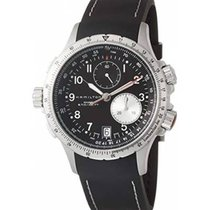 Hamilton Khaki Aviation Acier 42mm Noir Arabes
