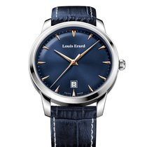 Louis Erard Héritage 15920AA35 Louis Erard Héritage Quarzo Blu Pelle Blu 40mm nuevo