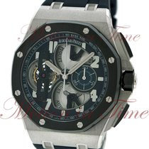 Audemars Piguet Royal Oak Offshore Tourbillon Chronograph Platinum 44mm Blue Arabic numerals