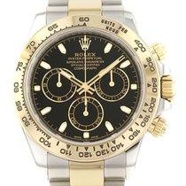 Rolex Daytona Gold/Steel 40mm Black No numerals