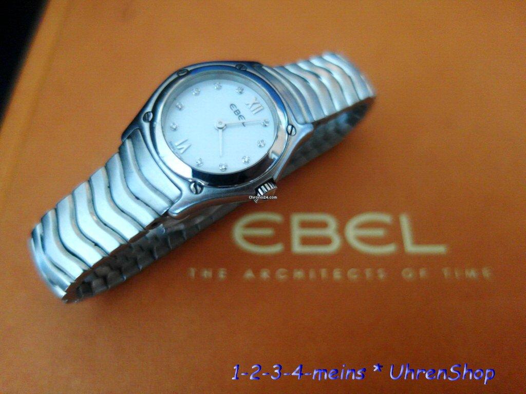 EBEL Wave Damenuhr Perlmutt Silber