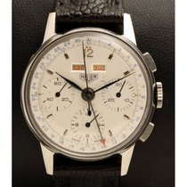 Heuer | Chronograph Triple Date in Steel, made in the 1950's