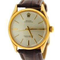 Rolex Yellow gold Automatic 34mm pre-owned Oyster Perpetual 34