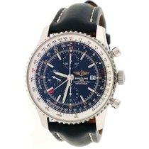 Breitling Navitimer World 46MM Black Dial Chronograph GMT Mens...