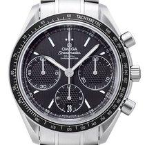 Omega Speedmaster Racing Chronograph Black Dial SS Men Watch...