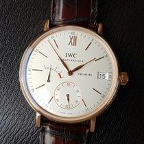 IWC Portofino Hand-Wound IW510107 IWC Portofino Oro Rosso Argento Pelle Marrone 45mm новые