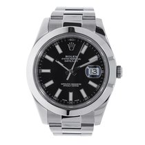 ロレックス Datejust II 41 Stainless Steel Black Index Dial Watch...