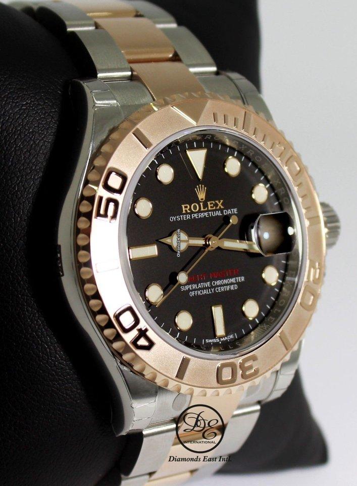 7f073f79e288 Rolex Yacht Master 116621 40mm Black Dial Steel 18k Everose... for ...