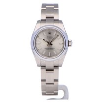 Rolex Oyster Perpetual 26 Acero 26mm Plata Sin cifras