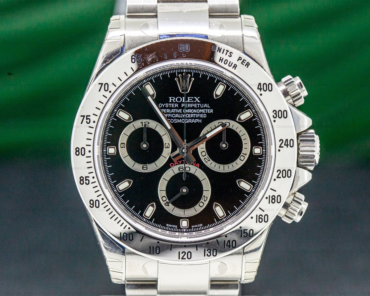 Rolex 116520 Daytona Black Dial SS NEW OLD STOCK (32206)