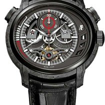 Audemars Piguet Carbon Manual winding Black No numerals 47mm pre-owned Millenary Chronograph