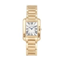 Cartier Tank Anglaise Yellow gold 30mm Silver Roman numerals United States of America, Pennsylvania, Bala Cynwyd