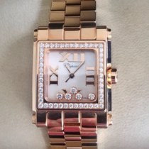 Chopard Happy Square New Full Set Rose Gold Diamonds